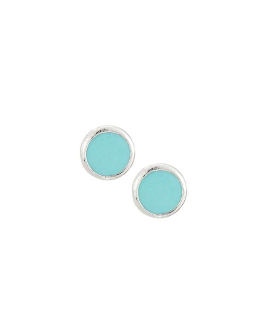 Ippolita | Blue Rock Candy Turquoise & 18k Yellow Gold Stud Earrings | Lyst