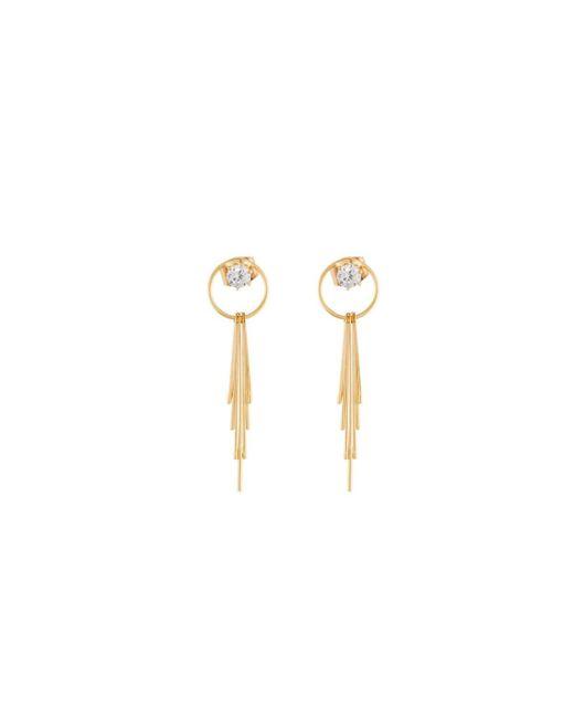 Panacea | Metallic Crystal Circle & Linear Drop Earrings | Lyst