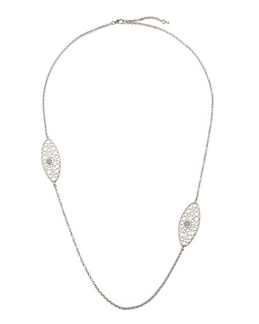 Roberto Coin | Bollicine 18k White Gold Long 2-station Necklace | Lyst