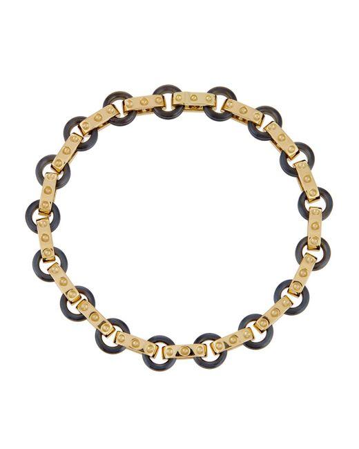 Roberto Coin | Pois Moi 18k Yellow Gold & Titanium O-ring Bracelet | Lyst