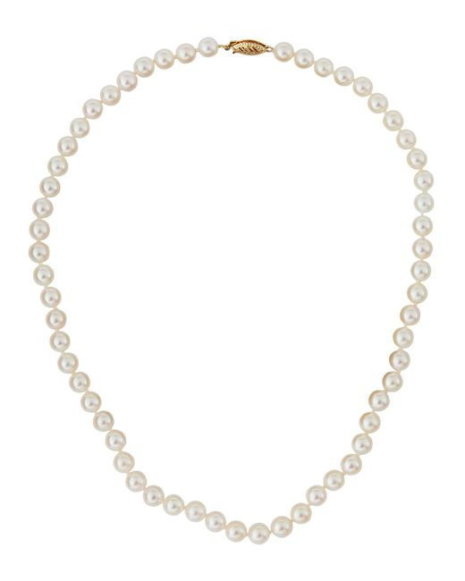 Belpearl   White Akoya Pearl Necklace   Lyst