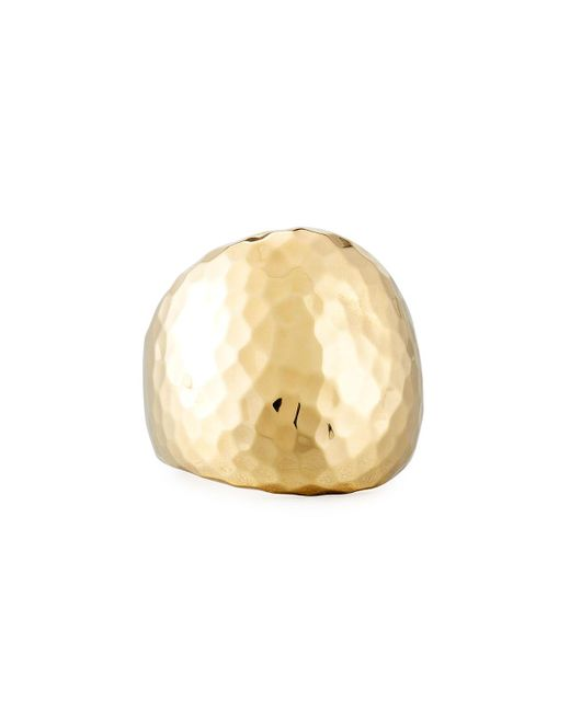 Roberto Coin | Metallic 18k Hammered Dome Ring | Lyst