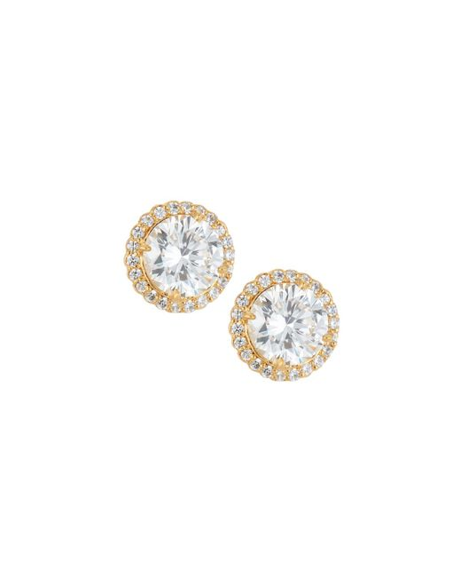 Fantasia by Deserio | Metallic 22k Gold-plated Cz Stud Earrings | Lyst