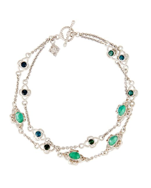 Armenta | Green New World Double-strand Chain Bracelet W/ Champagne Diamonds | Lyst
