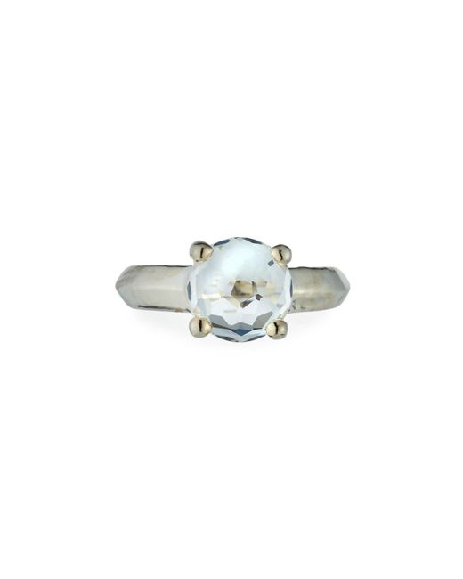 Ippolita   Metallic Wonderland Silver Knife-edge Ring In Clear Quartz   Lyst