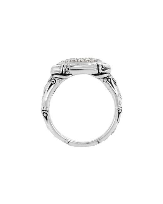 John Hardy - Metallic Bamboo Diamond Oval Pave Ring Size 7 - Lyst