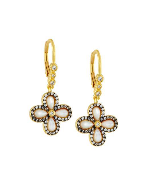 Freida Rothman | Metallic Pave Clover Drop Earrings | Lyst