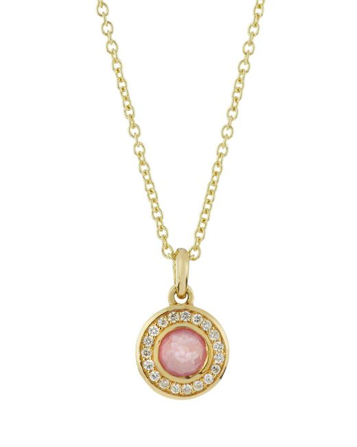 Ippolita - Metallic 18k Lollipop Mini Composite Ruby & Diamond Necklace - Lyst
