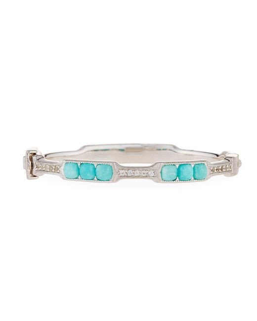 Jude Frances - Blue Moroccan Cushion Bangle Bracelet In Amazonite - Lyst