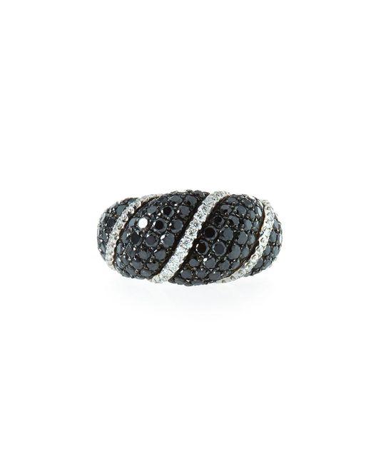 Roberto Coin - 18k White Gold Black & White Diamond Ring Size 6 - Lyst