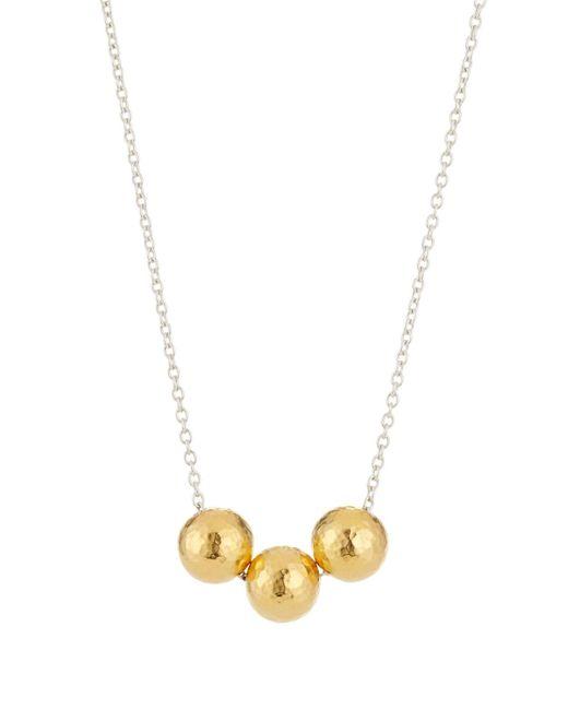 Gurhan - Metallic Triple Sphere Pendant Necklace - Lyst