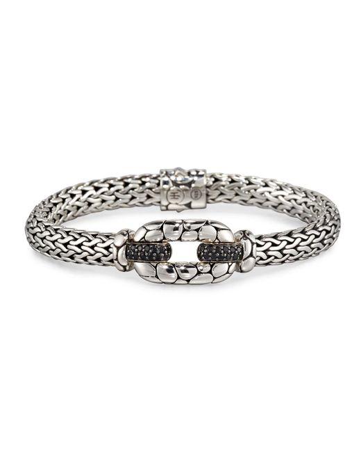 John Hardy | Kali Silver Lava Station Bracelet W/ Black Sapphire Pave | Lyst