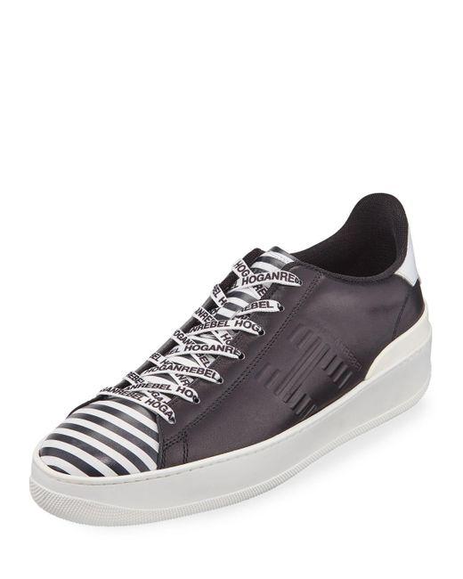 Hogan - Black Men's Printed Leather Sneakers for Men - Lyst