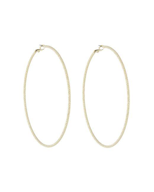 Kenneth Jay Lane - Metallic Large Shiny Golden Hoop Earrings - Lyst