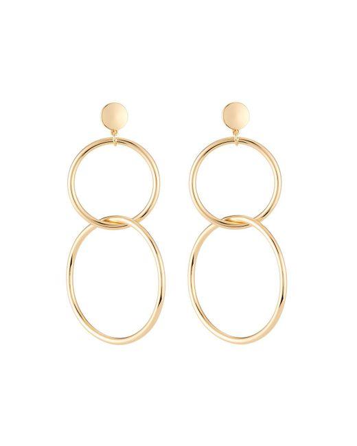 Lydell NYC - Metallic Linear Link Drop Earrings - Lyst