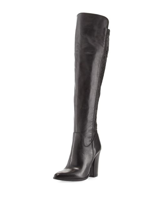 Charles David | Black Chela Stretch Leather Boot | Lyst