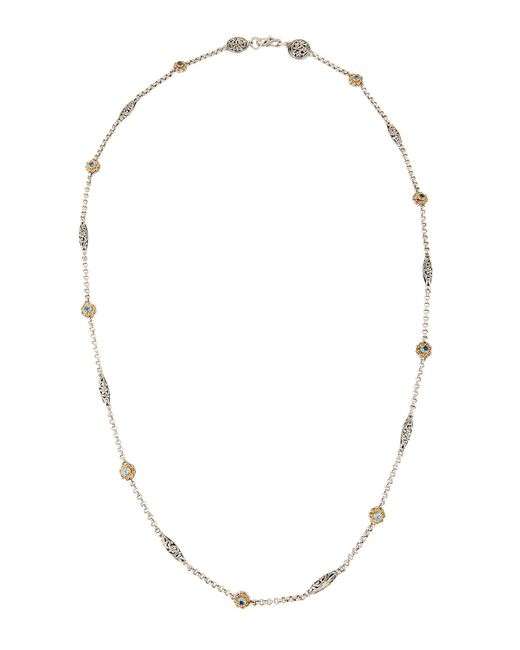 Konstantino - Gray Color Classics Long Blue Topaz Station Necklace - Lyst