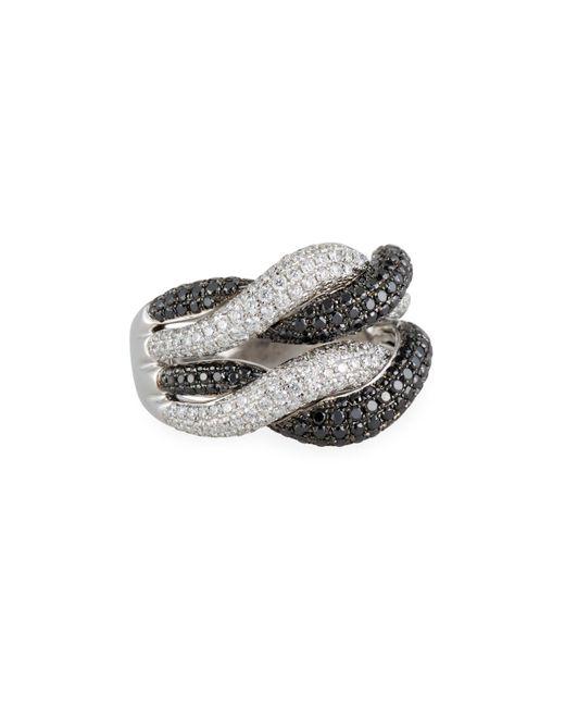 Roberto Coin - Multicolor 18k Woven Diamond Ring - Lyst
