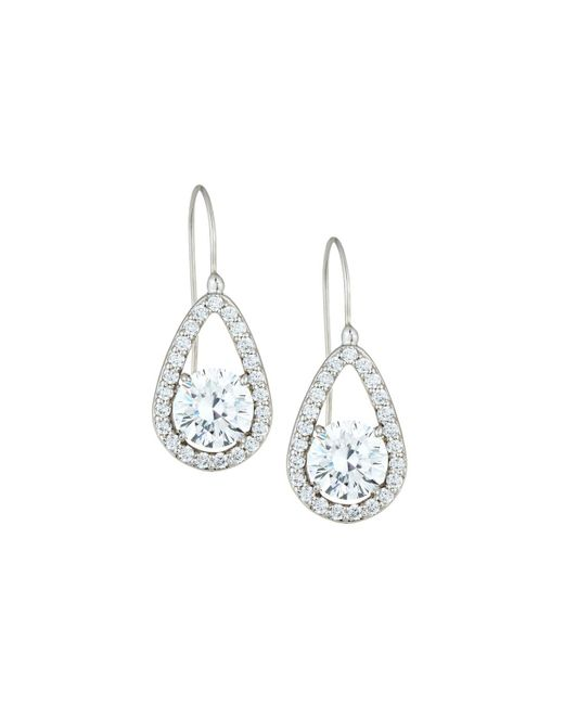 Fantasia by Deserio - Multicolor Teardrop Crystal Dangle Earrings - Lyst