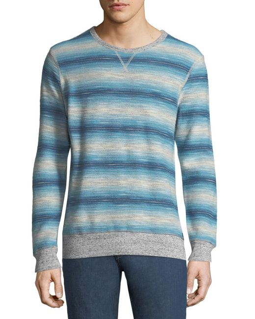 Faherty Brand - Gray Men's Reversible Crewneck Sweatshirt for Men - Lyst