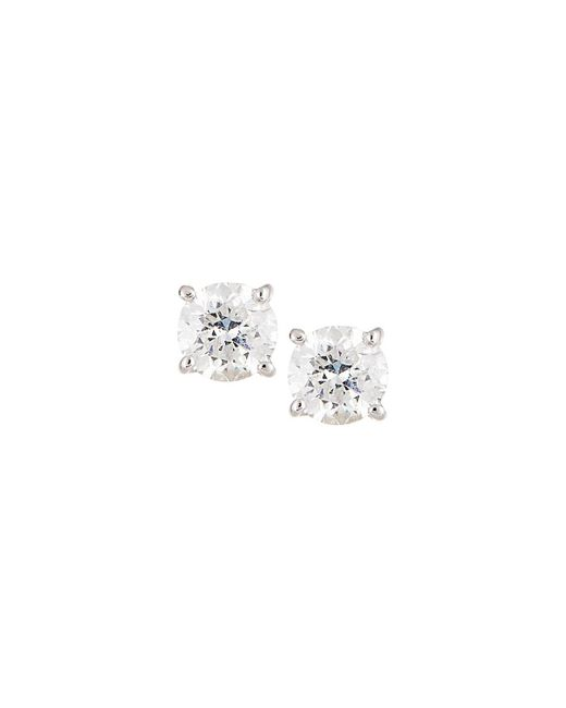 Neiman Marcus - 18k White Gold Round Diamond Solitaire Stud Earrings 0.5tcw - Lyst