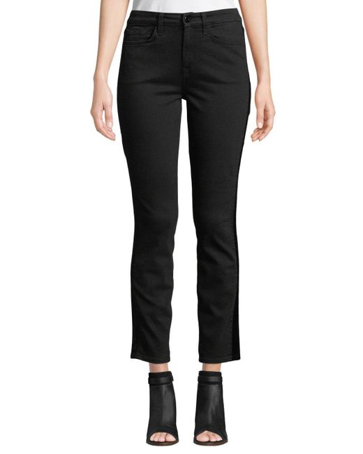 7 For All Mankind - Black Riche Touch Skinny Tux Ankle Jeans - Lyst