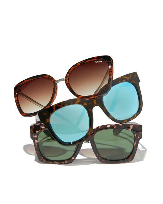 a1bb2fd5a3589 ... Quay - Brown Capricorn Square Plastic metal Sunglasses - Lyst