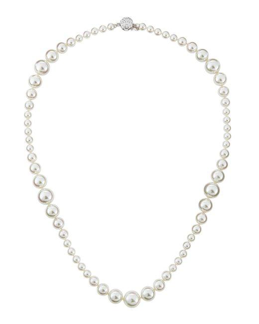 Majorica | Metallic Mixed-size Pearl & Cz Necklace | Lyst