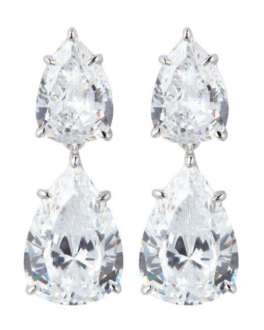 Fantasia by Deserio - Metallic Double Pear-cut Drop Earrings - Lyst