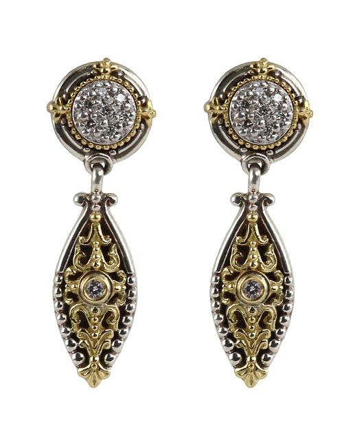 Konstantino - Metallic Asteri Pave White Diamond Dangle Earrings - Lyst