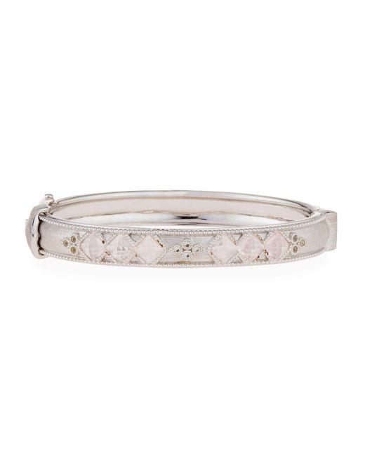 Jude Frances - Metallic Moroccan Sterling Silver Hinge Bracelet With Rose Quartz - Lyst