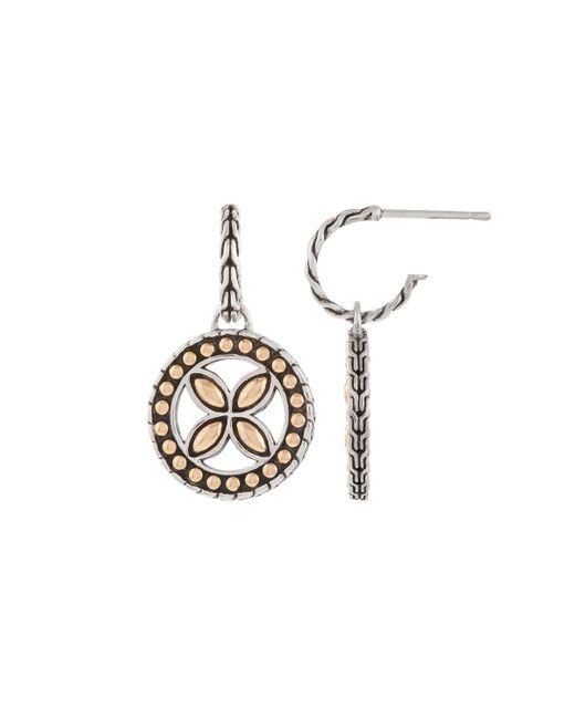 John Hardy - Metallic Kawung Round Hoop Drop Earrings - Lyst
