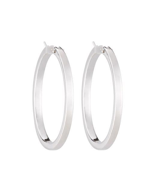 Roberto Coin | 18k White Gold Classic Hoop Earrings | Lyst