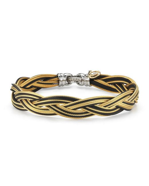 Alor - Black Braided Stainless Steel Micro-cable Bracelet - Lyst