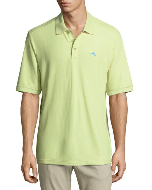 Tommy bahama polo shirt with sailfish embroidery in green for Tommy bahama polo shirts on sale
