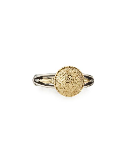 Konstantino | Metallic Eros Etched Dome Ring | Lyst