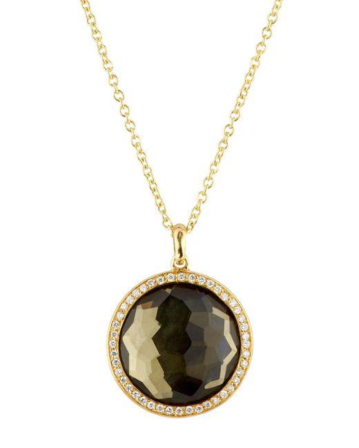 Ippolita | Metallic 18k Lollipop® Citrine & Diamond Pendant Necklace | Lyst