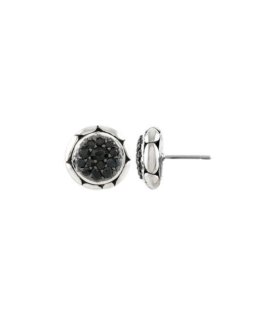 John Hardy - Kali Pure Lavafire Black Sapphire Stud Earrings - Lyst