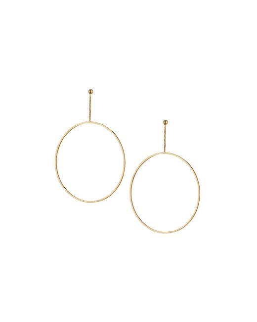 Kenneth Jay Lane | Metallic Open Circle Drop Earrings | Lyst
