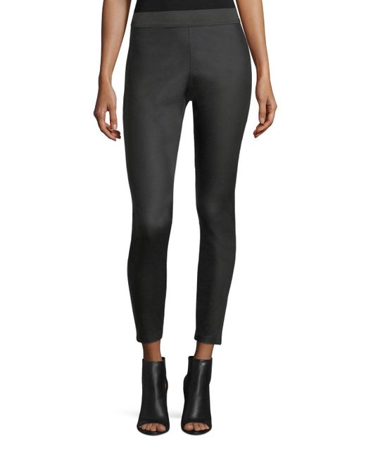 Romeo and Juliet Couture - Black Elastic-waist Waxed Leggings - Lyst