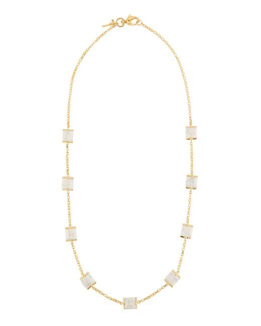 Lele Sadoughi - Long Rosary Cube Necklace White - Lyst