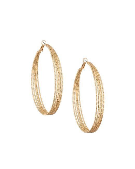 Lydell NYC | Metallic Textured Multi-row Hoop Earrings | Lyst