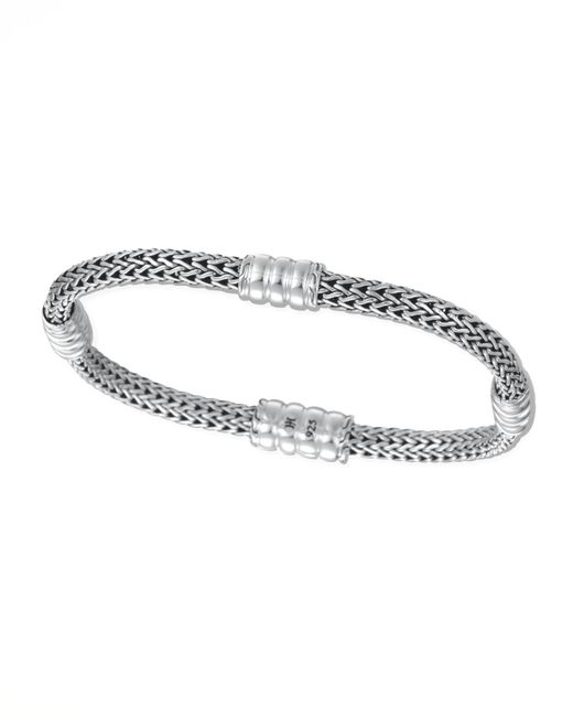 John Hardy | Metallic Bedeg Silver Extra Small Four-station Bracelet | Lyst