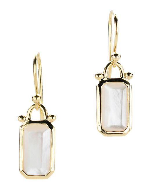 Elizabeth Showers | Multicolor Deco Emerald-cut Mother-of-pearl Dangle & Drop Earrings In 18k Gold | Lyst