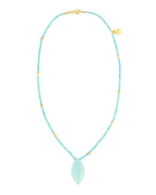 Gurhan   Blue Delicate Hue 24k Aqua Chalcedony & Turquoise Beaded Necklace   Lyst