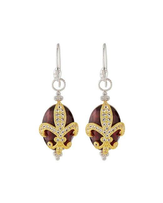 Jude Frances - Fleur-over-stone Drop Earrings In Light Pink Quartz - Lyst