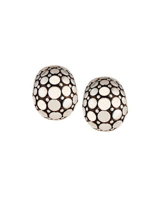 John Hardy - Metallic Dot Silver Buddha Belly Earrings - Lyst