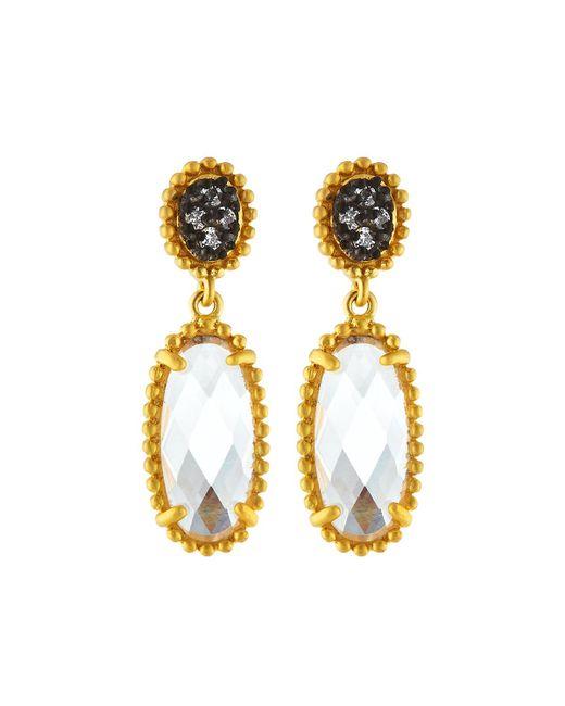 Freida Rothman - Metallic Signature Elongated Oval Drop Earrings - Lyst