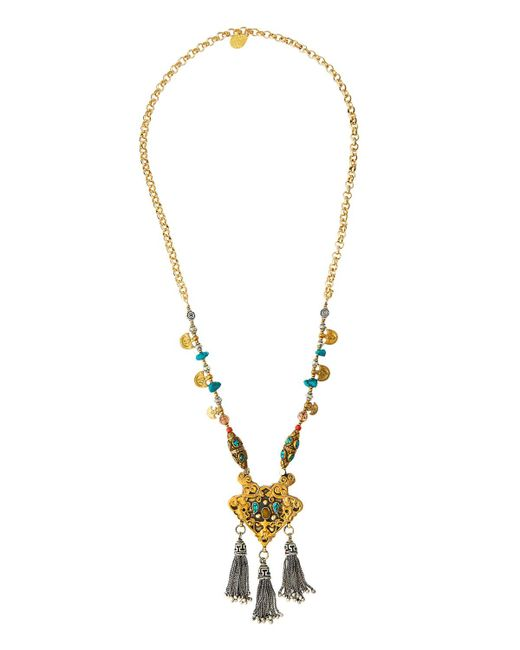 Devon Leigh - Multicolor Long Beaded Tasseled Pendant Necklace - Lyst