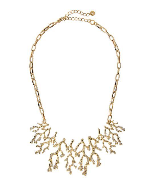 Lydell NYC | Metallic Crystal Branch Bib Necklace | Lyst
